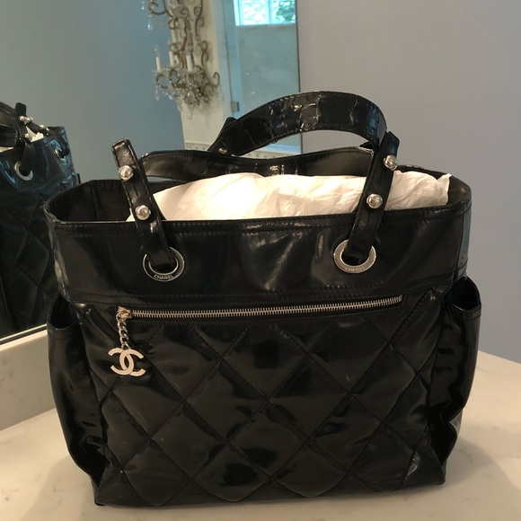 2b81e03e4f5 CHANEL Bags   Biarritz Tote Bag Patent Leather   Poshmark